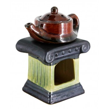 "Аромалампа ""Чайник на колонне"", черная-зеленая"
