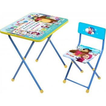 Комплект детской мебели Ника КП2/2 Маша и Медведь Азбука