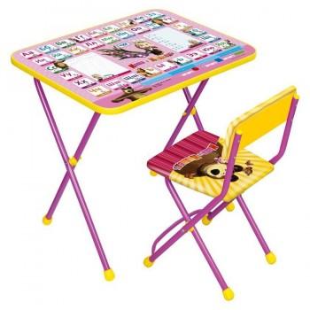 Комплект детской мебели Ника КП2/3 Маша и Медведь Азбука-3