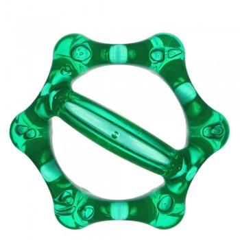 Массажер ЛАПОНЬКА-6 зеленый с ручкой, 6 массажных элементов с шипами