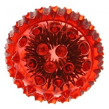 Массажер МАССАЖНЫЙ ШАРИК красный медицинский с двумя металлическими пружинами без упаковки