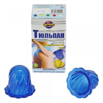 Массажер ТЮЛЬПАН для чувствительной кожи, синий (2 шт в коробке)