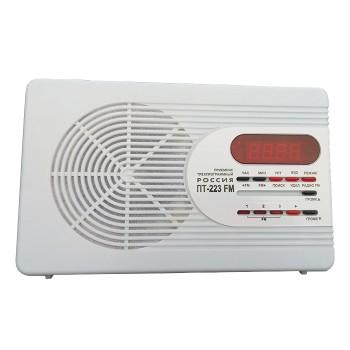 Приемник трехпрограммный Россия ПТ-223 УКВ/FM сеть 30В и 15В + УКВ/FM-приемник, часы-будильник