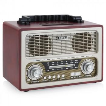 Радиоприёмник БЗРП Сигнал РП-312 FM/УКВ/СВ/КВ + МР3 плеер, аккум./сеть/R20*4, разъем SD/USB, 2 динамика, стереозвук