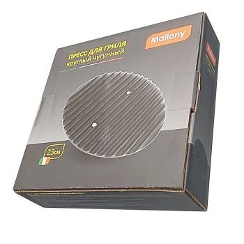 Пресс для гриля круглый чугунный CH23-L, промасл. покрытие, диам - 23см (985026)