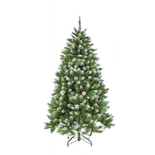 Искусственная елка ИМПЕРАТРИЦА 185 см с шишками заснеженная Triumph Tree