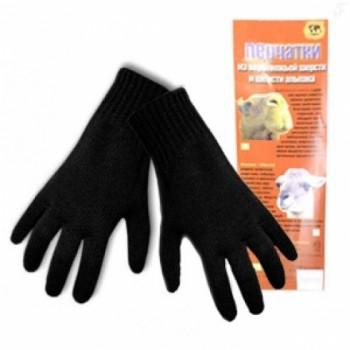 Перчатки мужские альпака черные