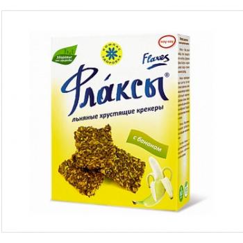 Флаксы с бананом 150 гр (льняные хрустящие крекеры)