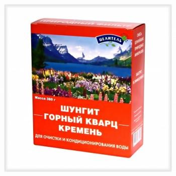 Активатор воды Энергетическая природная смесь 3-х минералов 380 г (шунгит,горный кварц,кремень)