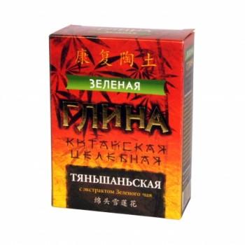 """Глина """"Зеленая"""" Тяньшаньская целебная 100 г с экстрактом Зеленого чая"""