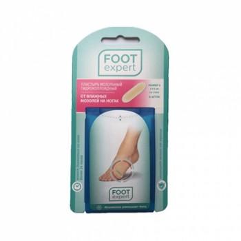 Пластырь мозольный гидроколлоидный (от 2 упак) Foot Expert 6 штук на стопу 2 см х 6 см размер S