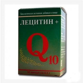 Капсулы Лецитин + Q10, для улучшения состояния печени, 30капс.х0,5 г