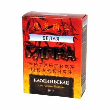 """Глина """"Белая"""" Каолиньская целебная с экстрактом Бамбука 100 г"""