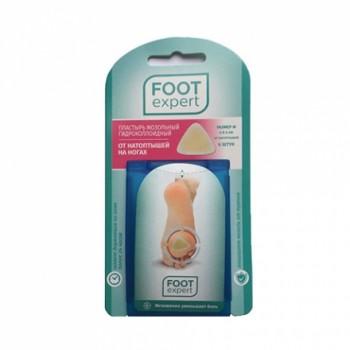 Пластырь мозольный гидроколлоидный Foot Expert 6 штук от натоптышей 4 см х 4 см размер М