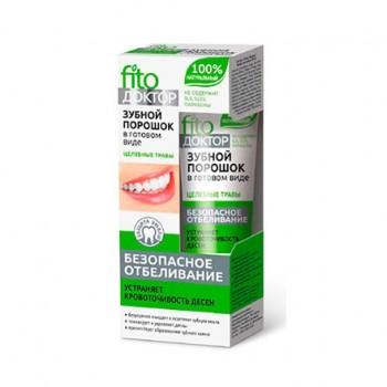 Зубной порошок в готовом виде Fito Доктор Целебные травы, туба 45 мл