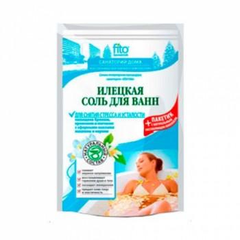 Соль для ванн Илецкая Для снятия стресса 500г+30г пакетик с травами в подарок