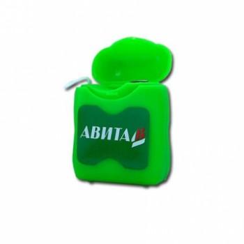 """Зубная нить (от 5 штук) """"Авита"""" вощеная мятная 65 м"""