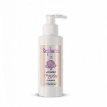 Repharm Молочко Очищающее Розовое флакон 150г с маслом из лепестков роз