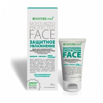 Nature.med Крем для лица Защитное увлажнение для нормальной и комбинированной кожи лица
