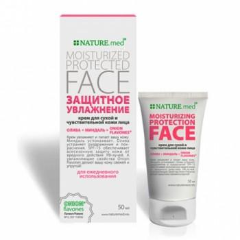 Nature.med Крем для лица Защитное увлажнение для сухой кожи лица