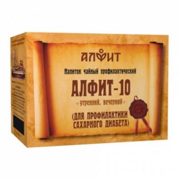 Алфит-10 напиток чайный (для профилактики сахарного диабета) 60 брикетов по 2,0г)