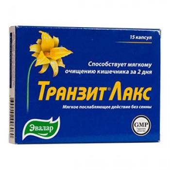 Транзит Лакс мягкое послабляющее средство без сенны (Эвалар) 15 кап.х0, 44г
