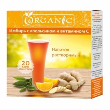 Organic имбирь с апельсином и витамином С напиток растворимый 20 стик/п х 5,0 г