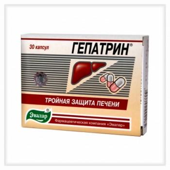 """Капсулы """"Гепатрин"""" для защиты печени, 30 капс х 0,2г"""