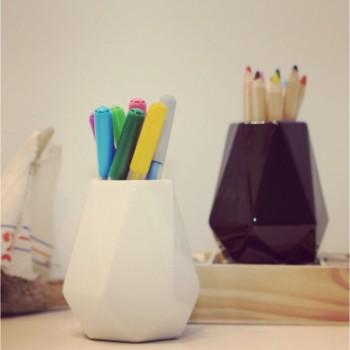 Набор керамических вазочек miniKIN (2шт.) чёрная и белая