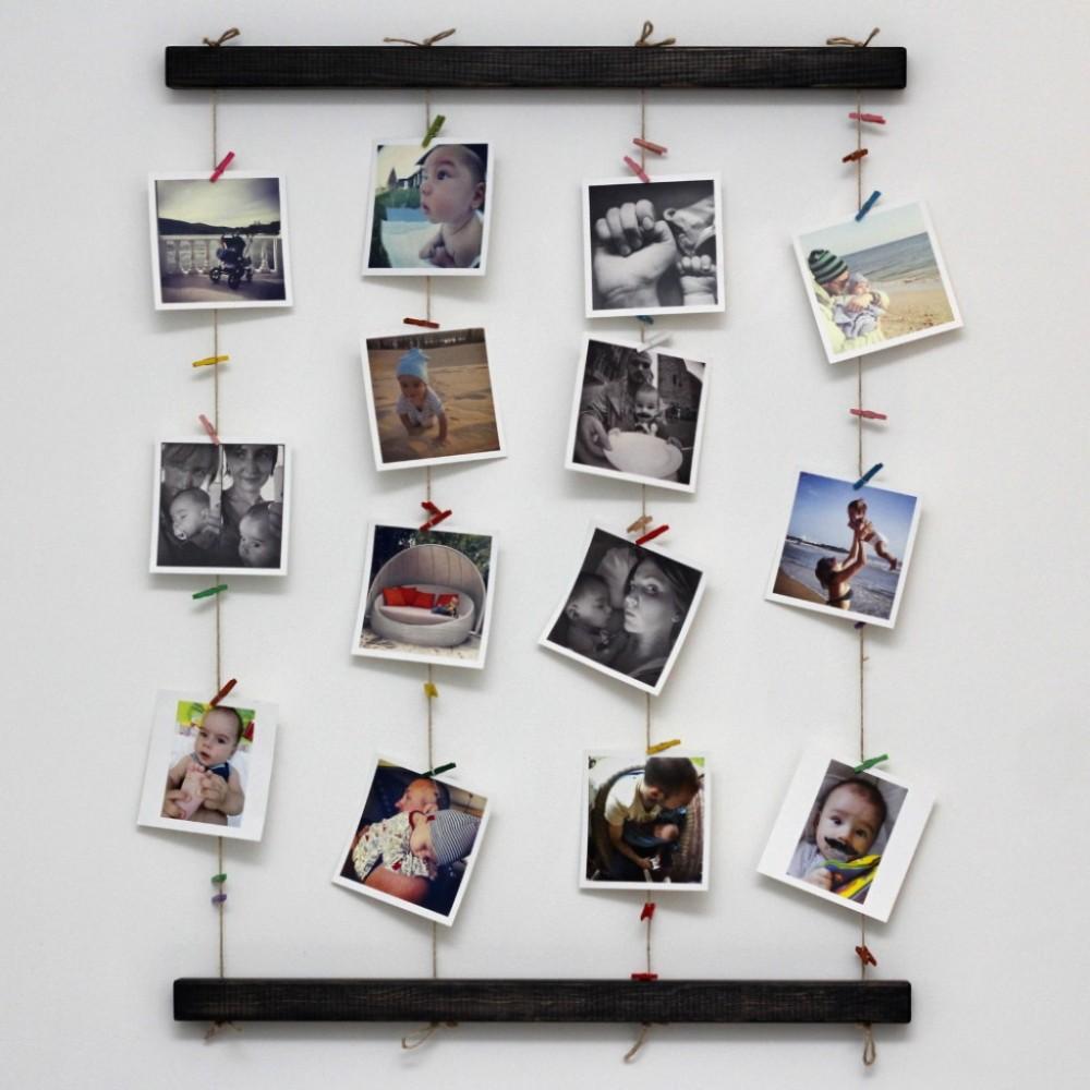 размещение фотографий на стене без рамок стесняется демонстрировать