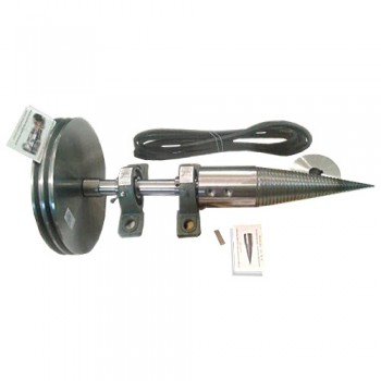 Конус для дровокола с валом, двумя шкивами и ремнями