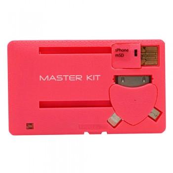 Портативное зарядное устройство Power-флешка KIT MT1098R (розовый)