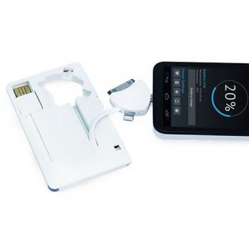 Портативное зарядное устройство Power-флешка 8 Гб MT1099W (белый)