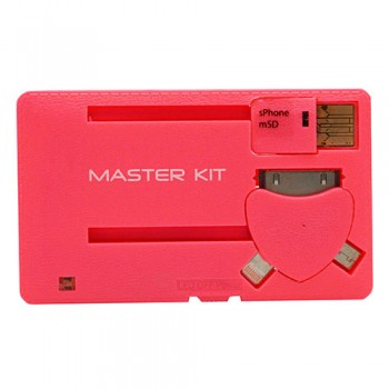 Портативное зарядное устройство Power-флешка 8 Гб MT1099R (розовый)