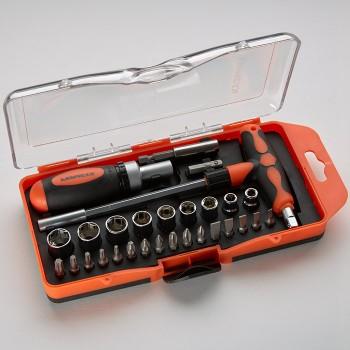 Набор бит и торцевых головок Кузьмич НИК2-033/29, 29 предметов в коробке