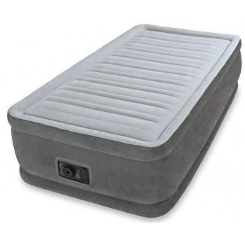 Надувная кровать Intex Comfort-Plush 64412, 99х191х46см, встроенный насос 220V