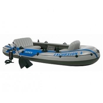 Надувная лодка Intex 68324 Excursion 4 Set, 315х165х43см (+весла, насос), до 400кг