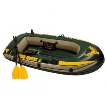 Надувная лодка Intex 68347 Seahawk 2 Set 236х114х41см (+весла, насос), до 200кг