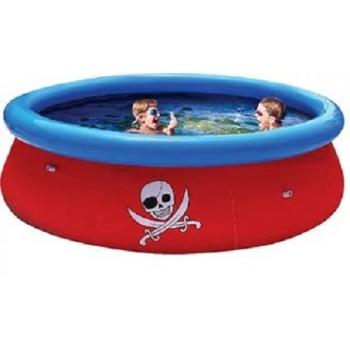 Бассейн детский BestWay 57243 с надувным бортом Пират 3D, 274х76см, 3480л (+3D очки)