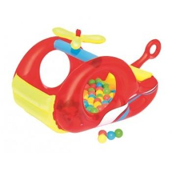 "Надувной игровой центр BestWay 52183 BW ""Вертолёт"", 132х79х68 см, с шариками"