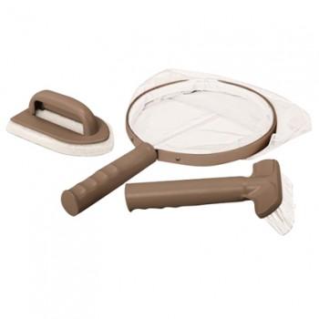 Набор Intex 28004 для чистки СПА-бассейнов: сачок, щетка, скребок вотерлинии