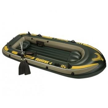 Надувная лодка Intex 68351 Seahawk 4 Set, 351х145х48см (+весла, насос, 2 подушки), до 400кг