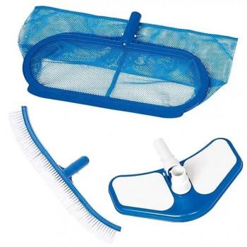 Набор Intex 29057 для чистки бассейна от 549см (сачок, щетка, вакуумная насадка)