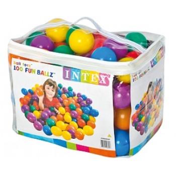 Пластиковые мячи Intex 49600, 8см, 100 шт, для надувных игровых центров, для детей от 2 лет