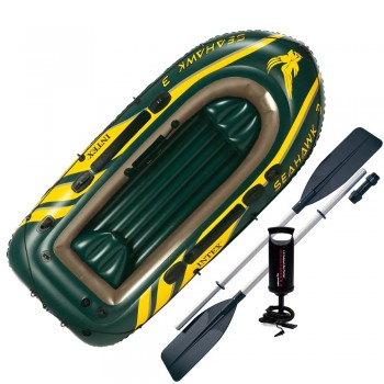 Надувная лодка Intex 68380 Seahawk 3 Set, 295х137х43см (+весла, насос), до 360кг