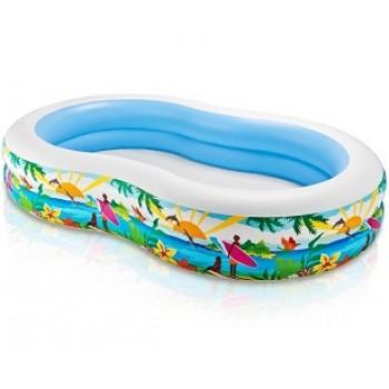 """Детский надувной бассейн Intex 56490 """"Лагуна"""", 262х160х46см, 572л, для детей от 3 лет"""