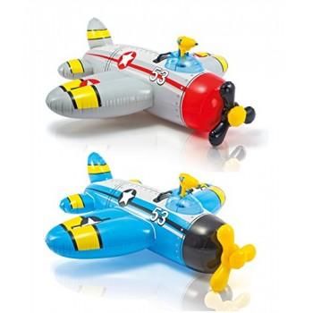 """Надувная игрушка-наездник Intex 57537 """"Самолеты"""", 132х130см, для детей от 3 лет"""