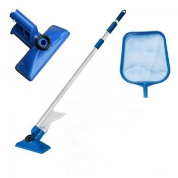 Набор Intex 28002 для чистки бассейна до 488 см (ручка 239 см, сачок и вакуумная насадка с мешком)