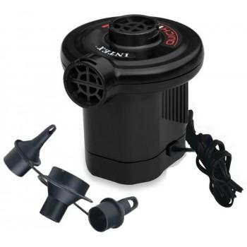 Насос электрический Intex 66620 Quick-Fill, 220В от бытовой сети, 3 насадки в комплекте