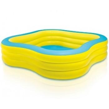 """Детский надувной бассейн Intex 57495 """"Волны"""", 229х229х56см, 1215л, для детей от 6 лет"""